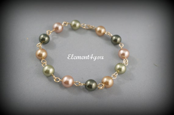 Bridesmaid bracelet, Rich fall wedding colors, Swarovski 8mm pearls, Gold bracelet, Fall wedding, Bridal bracelet, Bridesmaid gift