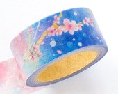 Limited Edition Japanese Washi Masking Tape - Spring Evening Sakura (Night Cherry Blossom)