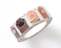 nami nami Die-Cut Japanese Washi Masking Tape / Cat Paws for scrapbooking, packaging, invitation, card, tag making