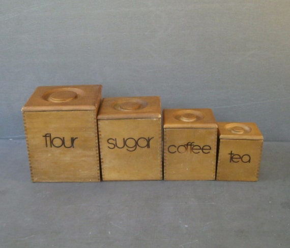 wooden dovetailed kitchen canister set 5 kitchen canisters wooden kitchen canisters kitchen