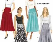 Big Pockets Skirt Pattern, Flared Skirt Pattern, Yoked Waistline Skirt Pattern, Butterick Sewing Pattern 6249