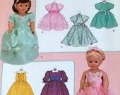 Pattern  SIMPLICITY 3547  18 inch DOLL CLOTHES  Formal Dresses. Sleeveless, Short Sleeve, Three Quarter Sleeve.  Knee or Full Length Skirt,