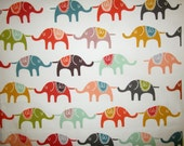 Elephants Fabric 20 x 42""