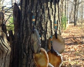 Geode Wind Chime on White Tailed Deer Antler.      #52