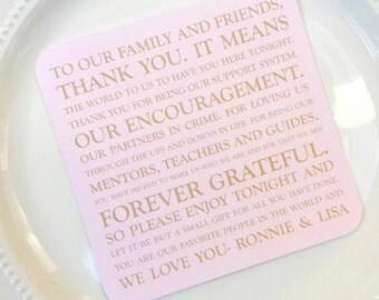 Printable Wedding Thank You Card | Wedding Thank You Card | Thank You Card | Thank You Printable - Style TY32 - ORIGINAL COLLECTION