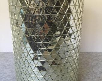 Vintage Mirrored Hollywood Glam Waste Basket