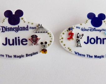Custom Order Disney Resort Name Tag Lapel Pin