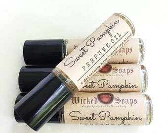 Sweet Pumpkin Perfume Oil - Roll On Perfume Oil, Roller Perfume Oil