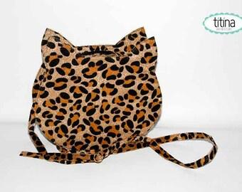 Sale before 40 faux leopard fur cat bag