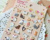 Funny Sticker World Kitty Cat puffy cartoon stickers