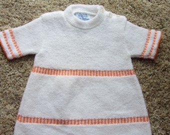 Vintage Baby Sweater Acrylic Dress Baby Boutique by Saks Fifth Avenue Infant Made in Belgium