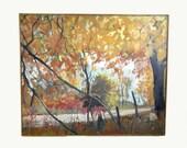 Large Landscape Painting, Original Painting Landscape Art, Tree Painting