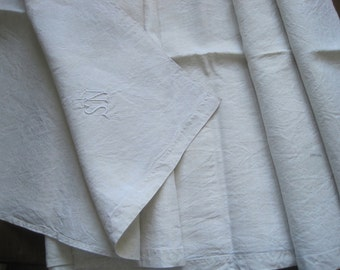 Simple antique French pure linen sheet, unused.  Great fabric for curtains, upholstery, projects etc