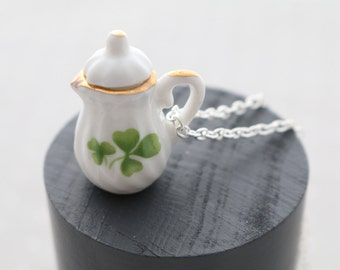 Shamrock Teapot Necklace