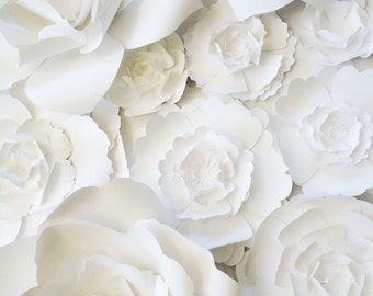 Large Paper Flower Wall, large paper flower backdrop, giant paper flowers, paper flower backdrop, photo shoot props, paper flower decor