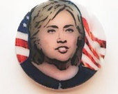 HILLARY CLINTON Election 2016 Ceramic Pin Politics Stocking Stuffers Democratic DEM