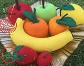 Felt Fruit Play Set - Felt Pretend Play Food for Children - Kids Felt Play Food - Children Felt Garden Fruits - Kids Felt Food Variety Set