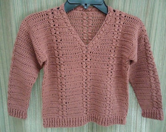 Boys Crocheted Cable Sweater