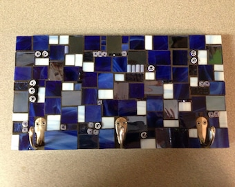 Blue Stained Glass Mosaic Wall Hook