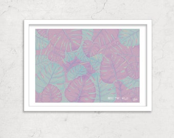 Purple Plant Print, Limited Edition Psychedelic Graphic Poster