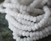 "2x4mm Dyed Jade Rondelle Beads - Jewelry Making Supply - 4x2mm Rondelle Moonstone White - Dyed Jade - 7.5"" strand"