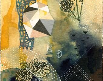 Bloom // 8.5 x 11 eco-friendly abstract wall art print