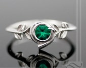 Kokiri Emerald Ring - Legend of Zelda - Geeky Engagement Ring - Sterling Silver