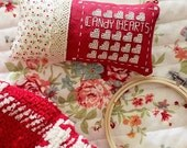 candyHEARTS Cross Stitch Pattern PDF