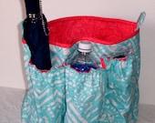 Larger Purse Organizer Bag Insert - Bigger Bag Organizer for Tote B - Handmade Insert Organizer
