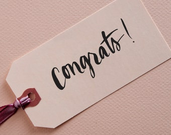 Congrats! Brush Lettering Stamp