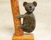 Koala Bear , Carving , Folk Art Carving , Carved Koala Bear , Hand Carved , Wood Carving , Australian Animal , Bear , Handmade , Carvings