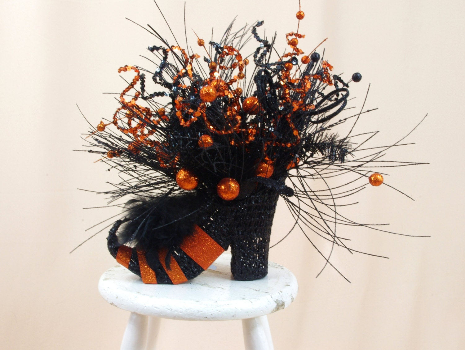 Halloween Decor Witch Shoe Centerpiece Halloween