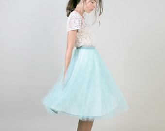 Women's mint green tulle skirt / adult tutu ballerina skirt / engagement photo skirt