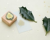 Christmas Rubber Stamp Holly | Gift Tag Stamp | Christmas Stamp | Holidays Stamp | STUDIO KARAMELO | botanical stamp, gift for gardeners