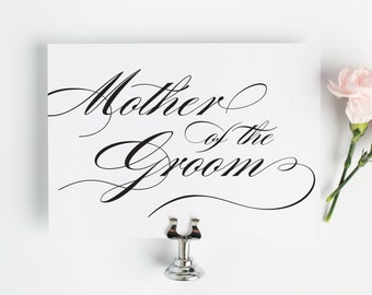Mother of the Groom Sign for Your Wedding in Black and White