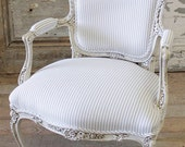 French Arm Chair in Ticking