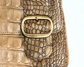 Vintage Croc Embossed Designer Max Mara Handbag- Size S