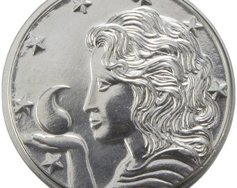 Fine Silver Tar Valon Mark  on Amyrlin letter, Wheel of Time officially licensed merchandise.