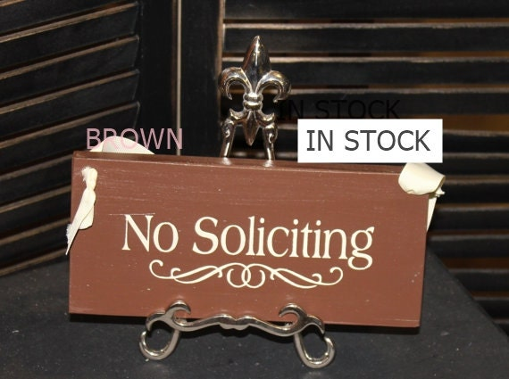 No Soliciting Sign//Decorative Sign/ YOU Choose Color/Wood Sign/No Sales Call/No Sales/Ready to Ship