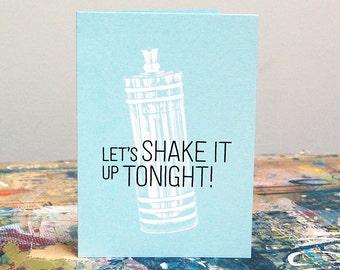 Shake It Up Tonight – Screenprint Card