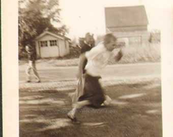 Motion Blur Boy in the Act of Running Vintage Photo N0903