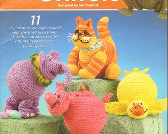 Annies Attic Crochet Book Cache Critters designed by Sue Penrod