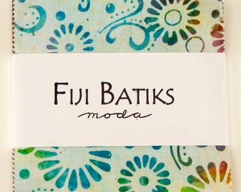 "Fiji Batiks by Moda for Moda ~ 100% Cotton ~ 40 / 5"" Square Charm Pack"