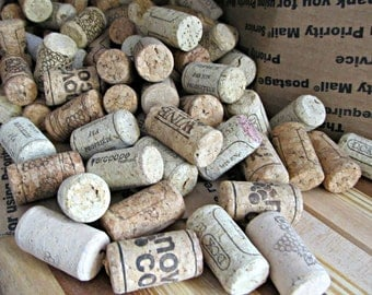 DESTASH - 100+ Used Natural Wine Corks - Short Corks - Red and White Wine - DIY Cork Boards, Coasters, Trivets, Wine Cork Art, Crafts,Decor