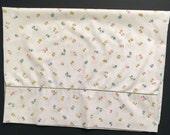 Vintage Pillowcase - Tiny Pastel Flowers - Wamsutta