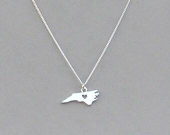 I Heart North Carolina Necklace