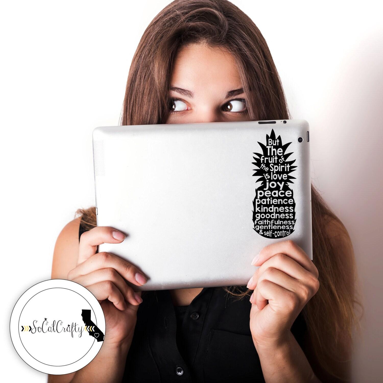 Bible Verse Vinyl Decal Pineapple Laptop Decal Laptop - Bible verse custom vinyl decals for car