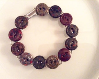 Bursts of Color Button Bracelets