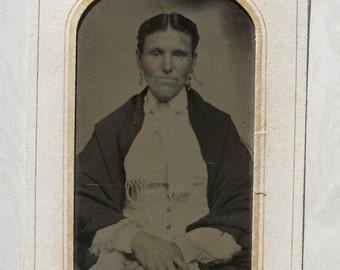 Tintype - Determined Lady