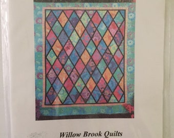 Fassett Queen Flurry Queen Bed Quilt Pattern